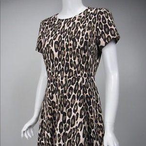 Kate Spade Leopard Ponte Dress